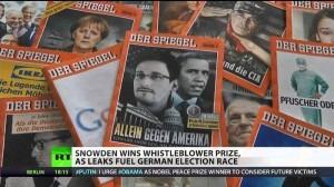 Edward Snowden Wins Whistleblower Award in Germany