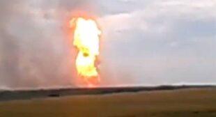 Gas transit pipeline explodes in E. Ukraine
