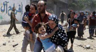 Thousands of civilians flee Gaza, Palestinian death toll surpasses 160