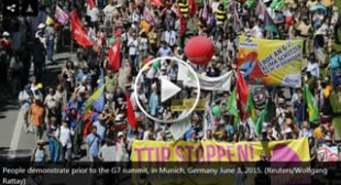 'End extreme inequality': Thousands hit streets of Germany ahead of G7 summit