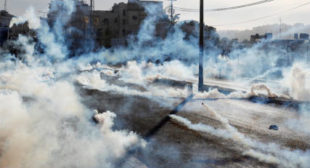 Israeli police use tear gas in clashes with Palestinians in Bethlehem