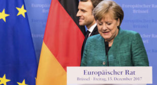 Taking a Stand Against Trump: Merkel Likely to Join Macron at Davos