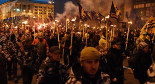Noisy Rally in Kiev Commemorates WWII Nazi Collaborator Bandera (PHOTOS)