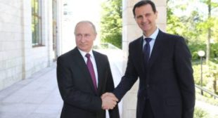 Putin Congratulates Assad on 75th Anniversary of Establishment of Diplomatic Relations