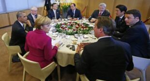 """""""€˜Bon appétit,""""€™ Putin tells G7 leaders dishing the dirt on Russia in Brussels"""