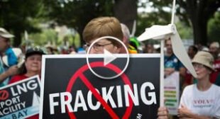 Hundreds rally in DC against fracked gas exports