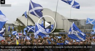 """Stick your license fee up your a***!"" Pro-indy Scots denounce ""liar"" BBC journo in protest"