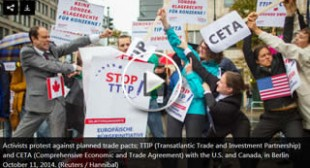 NoTTIP: Mass protests slam US-EU trade deal as 'corporate power grab'