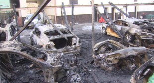 Hot cars: $3.3mn worth of Rolls Royces, Bentleys in flames in downtown Moscow
