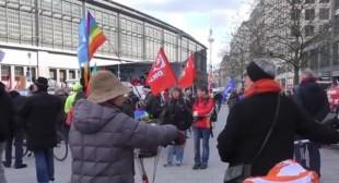German rallies protest world militarism & NATO warmongering (VIDEO)