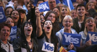 Yes: Glasgow hosts massive rally in support of Scottish independence year after vote