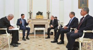 Assad to Putin at Moscow talks: Terrorists would seize larger areas if Russia did not act