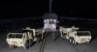 THAAD Anti-Missile Defense Begins to Be Positioned in South Korea
