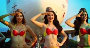 More Sexy Stunts Onboard as Cheap 'Bikini Airline' Travels the World (PHOTOS)