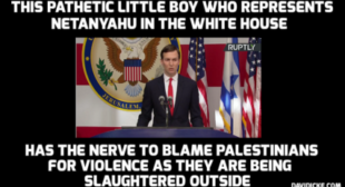 Jared Kushner talks about living in peace as Israel kills dozens of Palestinians