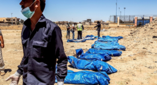Over 1,200 corpses unearthed in Raqqa mass graves, US still in denial about massive casualties