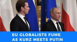 EU globalists fume as Austrian Chancellor Sebastian Kurz meets with Vladimir Putin