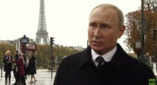 'Good for multipolar world': Putin positive on Macron's 'European army' plan bashed by Trump (VIDEO)