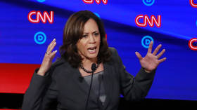 KamalaHarrisDestroyed trends on Twitter after annihilation by Tulsi Gabbard, 'Russian bots' blamed