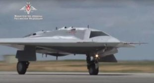 Watch New Russian Stealth Assault Drone's First Flight