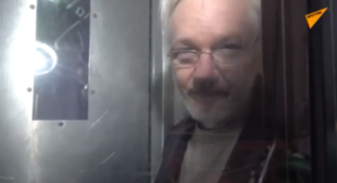 'Stay Strong, You Will Be Free!' Watch Julian Assange Get Cheered On Outside London Court
