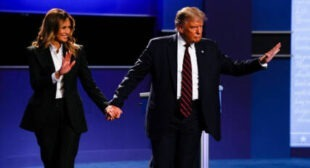 'Part of Prenup Deal': Melania Trump Giving Donald 'Cold Handshake' After Debate Stirs Online Frenzy